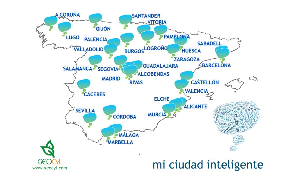 Mapa de las 30 ciudades que visitamos